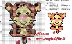 Schema punto croce Tigro cuties