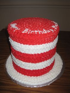 Cat In The Hat made for a dr suess birthday party Bake sale