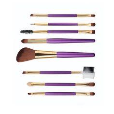 8pcs Dual Head Makeup Brushes Set Foundation Powder Eyeshadow Eyeliner Lip Brush