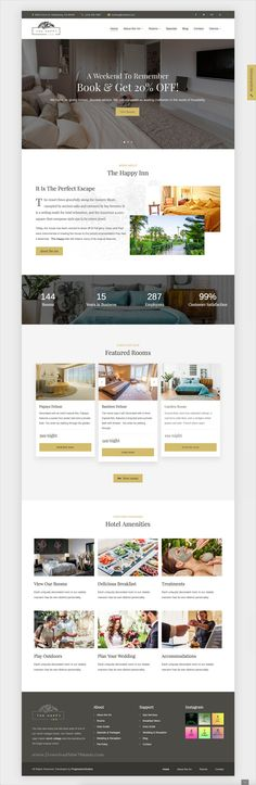 The happy inn is beautifully design responsive #WordPress theme for #hotel, bed and breakfast service website download now➩ https://themeforest.net/item/the-happy-inn-hotel-bed-breakfast-theme/19710298?ref=Datasata