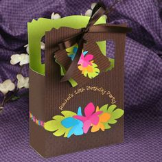Luau - Classic Personalized Birthday Party Favor Boxes - Birthday Party Favor Boxes