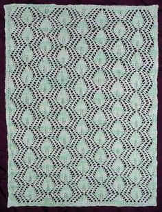 "Queen Anne's Lace Doily Afghan -- Check out this gorgeous pattern!  Knit with fingering weight yarn, use it to make a lightweight afghan, blanket, shawl, table runner, doily, etc. ""Ideal for intermediate level knitters."""
