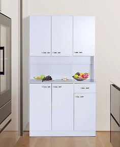 Large Kitchen Cabinet White Dresser Furniture Pantry Drawer Tall Storage Unit