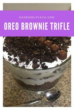 Oreo Brownie Trifle http://randomlyyaya.com/oreo-brownie-trifle/