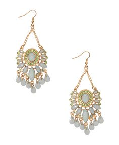 Rhinestoned Drop Earrings | FOREVER21 - 1000047380