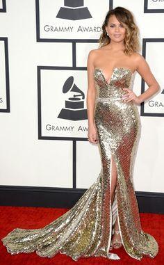 Just a Darling Life: Best Dressed: Grammy Awards 2014 Chrissy Tiegen in Joanna Johnson
