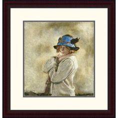 Global Gallery 'The Blue Hat' by Sir William Orpen Framed Painting Print Size: