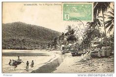 Deshaies plage bourg French, Photos, Antique Post Cards, The Beach, French People, French Language, France, Cake Smash Pictures