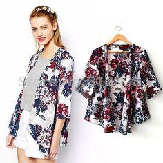 Barato Grátis frete confiável 2015 nova Vintage Floral xale solto Kimono Boho Chiffon Cardigan mulheres jaqueta casaco, Compro Qualidade Blusas diretamente de fornecedores da China:     Se você quiser outro estilo, clique aqui