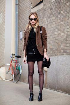 Street Style Fall 2012 - New York Fashion Week Street Style - Harper's BAZAAR. oversized belt