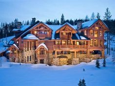 I would love a house in the mountains! but maybe not this big