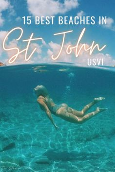 Planning things to do in St John USVI? We've listed the best beaches for your Virgin Islands vacation, whether you want to snorkel with turtles at maho bay, walk along the white sand a trunk bay, or snorkel to a remote island. #USVI #trunkbay #VirginIslands