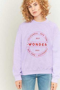 BDG Wonder Crew Neck Purple Sweatshirt