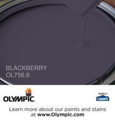 BLACKBERRY OL756.6 is a part of the purples collection by Olympic® Paint.