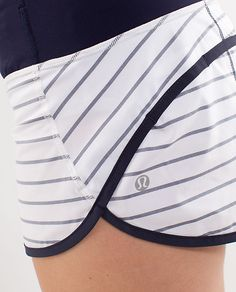 striped lulu running shorts