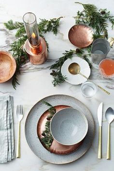 Modern Marble - Thanksgiving Day Tables That Are #Goals - Photos