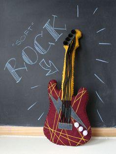 Make a soft guitar for your Operation Christmas Child boy box!
