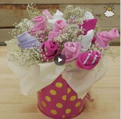 Pretty Bouquet Of Baby Socks Is Just The Gift You've Been Looking For!
