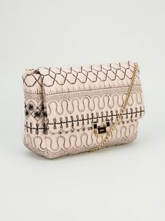 Ornate quilted shoulder bag by Red Valentino
