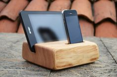 Wooden iPhone iPad Tablet Stand iPhone Station by WoodRestart