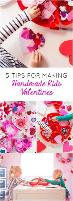 Have fun making handmade valentine cards with your kids this year!