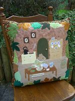Handmade Cushion 'Mrs Mouse's Baking Day' by Bumble Designs www.folksy.com/shops/BumbleBearsandDesigns