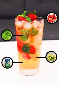 Home-made Strawberry Virgin Mojito (Non-Alcoholic) ~ Vannyp.com ~ when nothing goes right, go left.