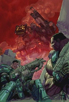 Gears of War color by Chuckdee.deviantart.com on @DeviantArt
