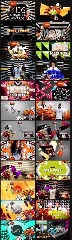 motion graphics/ storyboards/ styleframes | Kids Choice Awards - Nate Howe Freelance Design + Art Direction