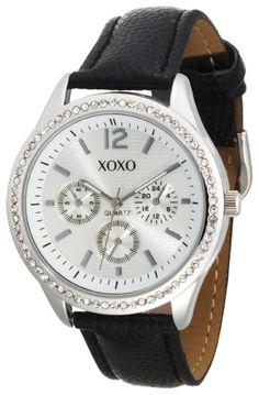 XOXO Women's XO3179 Silver Dial Black Lizard Strap Watch  shop all XOXO customer reviews (1)  $19.99