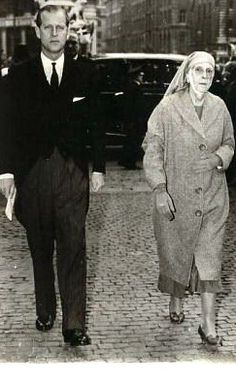 Prince Philip, Duke of Edinburgh, with his mother Princess Alice of Greece and Denmark