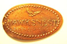 Elongated Pressed Penny Coin - Hawksnest - Seven Devil - NC