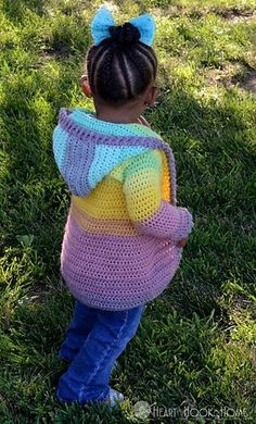 These patterns are smaller versions of the adult sizes of the Painted Canyon Cardigan by Heart Hook Home: