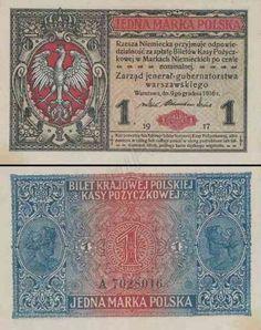 Największy, kompletny, w pełni ilustrowany spis banknotów polskich od początku XX wieku. Banknoty przedstawiono w dokładnie opisanych seriach. Money Worksheets, Retro, Banknote, 1, Drinks, Money, Report Cards, Poland, Stop It