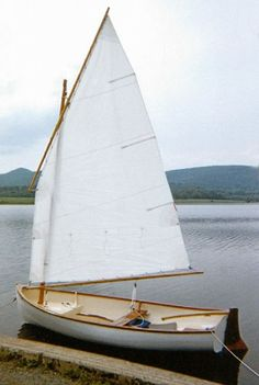 Daniel Fry of Williamsport, PA, worked part-time over two years to complete his sailing dinghy from Paul Gartside& Riff design. Western red cedar strips were used to build her. Wooden Boat Building, Boat Building Plans, Boat Plans, Make A Boat, Build Your Own Boat, Kayaks, Canoes, Sailing Dinghy, Sailing Boat