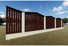 Constructie gard din beton si lemn GA17 Garage Doors, Outdoor Decor, Room, Furniture, Home Decor, Bedroom, Decoration Home, Room Decor, Rooms