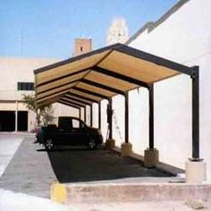 Parking Roof Shade — Buy Parking Roof Shade, Price , Photo Parking Roof Shade, from Bhagwati Industries, Sole Proprietorship. Car Canopies on Allbiz Surat India Shed Design, Facade Design, Fence Design, Car Porch Design, Modern Roof Design, Patio Design, Modern Carport, Canopy Design, Car Shed