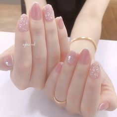 Cute Nail Art, Cute Nails, Pretty Nails, Soft Nails, Simple Nails, Nails Now, Gel Nails, Asian Nails, Korean Nail Art