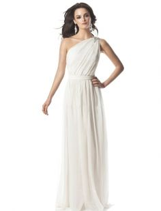 Белое ампир простое пляжное свадебное платье открытая спина