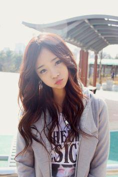 Cute girl and her beautiful hair.