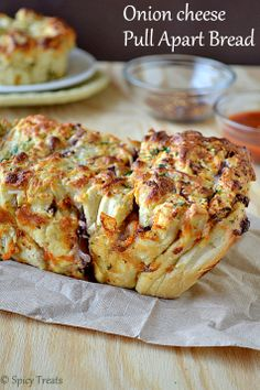 Onion Cheese Pull Apart Bread / Cheesy Pull Apart Bread