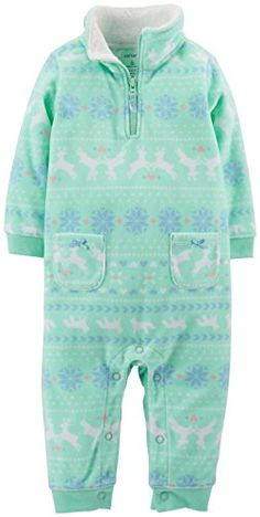 Carters Fleece Romper Baby  Mint3 Months *** You can get additional details at the image link.