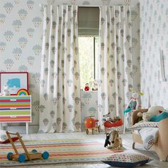 Style Library - The Premier Destination for Stylish and Quality British Design | Products | April Showers Fabric (NSCK131660) | Guess Who? Fabrics | By Scion