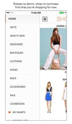 Shopbop - Category selection