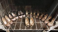 Jimmy Choo Flats, Bridal Gold Glitter Shoes @Jimmy Choo Pink Bridesmaid Shoes