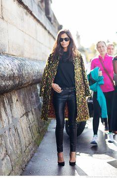 Barbara Martelo Paris Fashion week outfit Maison Valentino A/W15 streetstyle.