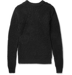 Rick Owens - Biker Level Open-Knit Cotton Sweater