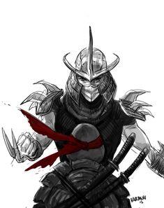 Leo vs. Shredder - TMNT - Paul Harmon