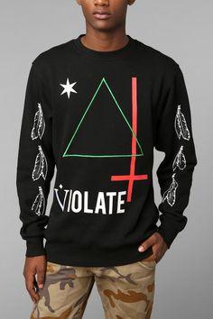 Black Scale Triangle Pullover Sweatshirt