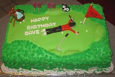 We Make Cakes For Golfers Too What A Great 50th Birthday Cake Idea